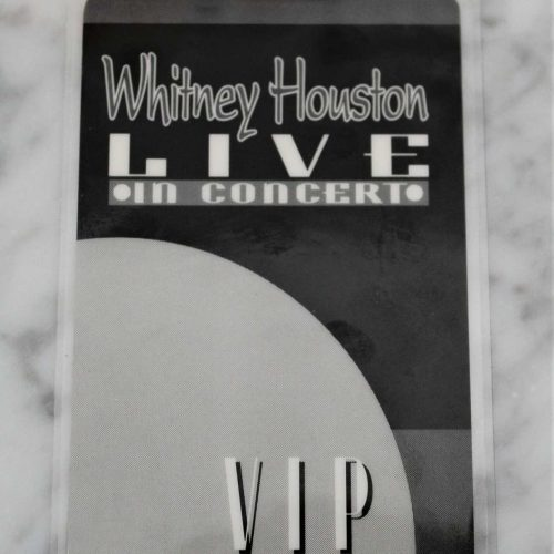 "Backstage Pass Whitney Houston 1993 VIP ""The Bodyguard"" Concert Tour, Radio City"