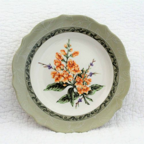 "Salad Plate, English Garden, ""Snapdragon"" by Princess House, SOLD"