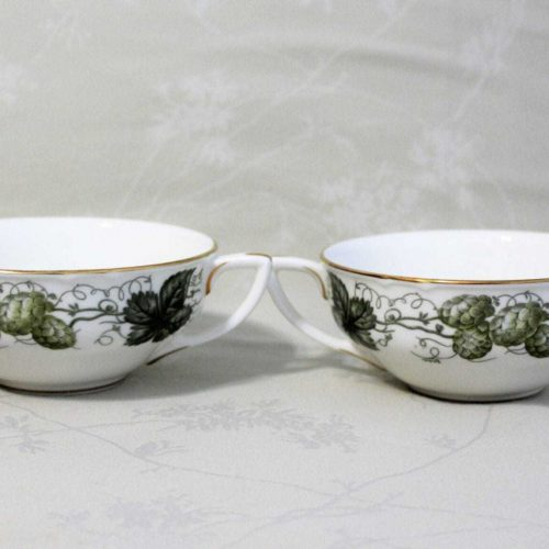 "Bowls Cream Soup, ""The Worcester Hop-Mathon"" by Royal Worcester, Set of 2"