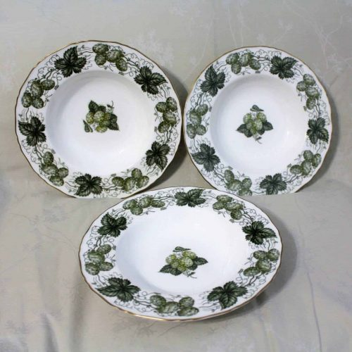 "Soup Bowl, ""The Worcester Hop-Mathon"" by Royal Worcester, Set of 3"