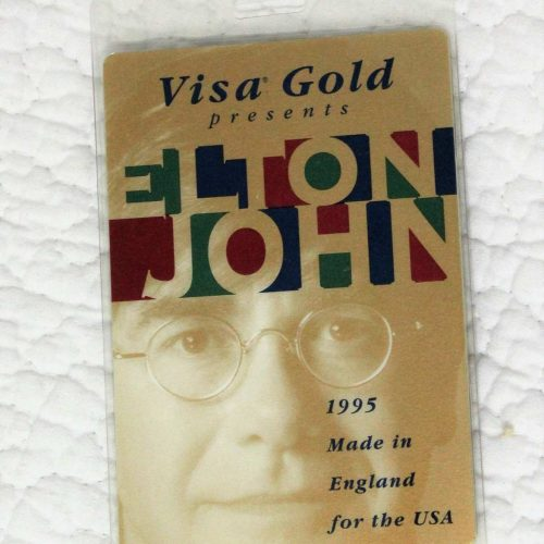 Backstage Pass Elton John 1995, Made in England Concert Tour