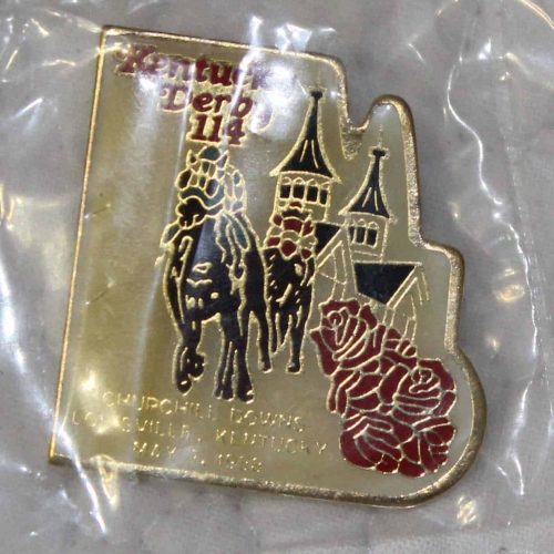 Pin Kentucky Derby, Original 114th Licensed Cloisonne Commemorative, SOLD