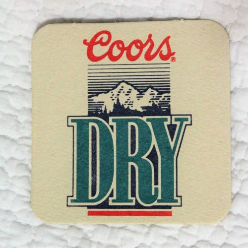 Coasters, Coors Dry Beer, Set of 6 - Coors Logo