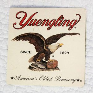 Coasters, Yuengling Beer Set of 6, Brewery Eagle Logo, SOLD