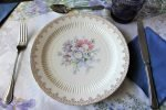 """Plate, Lunch, """"Heritage"""" by RC Royal, Sebring Ohio, Set of 4"""