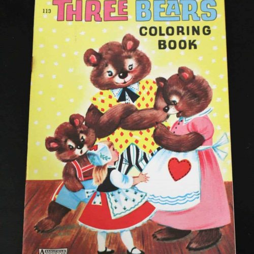 Coloring Book, Big Little, Three Bears and Goldilocks, Saalfield ArtCraft