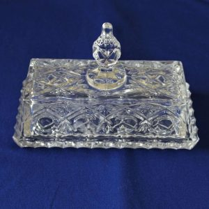 Butter Dish with Lid, Pressed Glass, SOLD