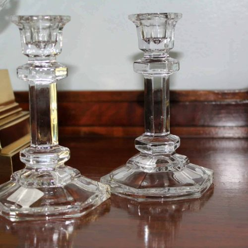 """Candle Holders, Tapers, Fifth Avenue Crystal, """"Regal"""" Pattern, Set of 2, SOLD"""
