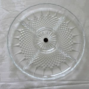 """Dish, Divided 5 Section, Relish """"Longchamps"""" (Clear) by Cristal D'Arques-Durand"""