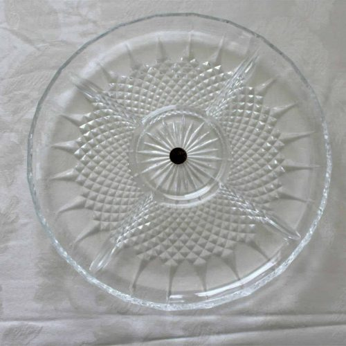 "Dish, Divided 5 Section, Relish ""Longchamps"" (Clear) by Cristal D'Arques-Durand"