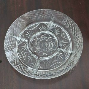 Dish, Divided 5 Sections, Luminarc (Cristal D'arques) Antique Clear Pattern