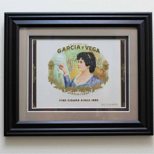 Label Cigar Box, Framed Garcia y Vega, Genuine-Original 1930's
