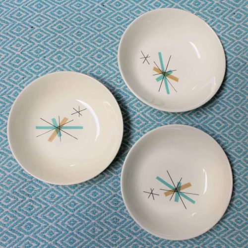 "Bowls, Fruit / Dessert, MidCentury Modern, ""North Star"" Salem China Co, Set of 3, SOLD"