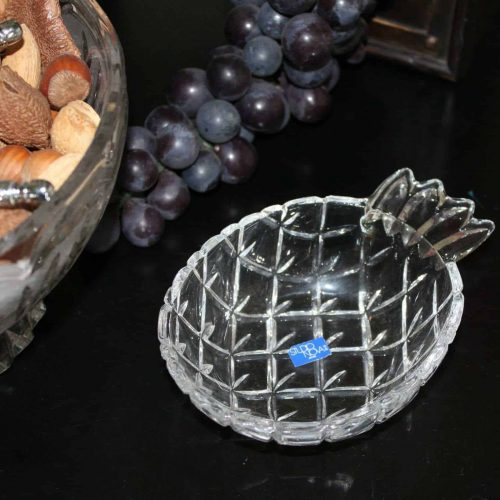 Trinket / Candy Dish, Pineapple Shaped Glass by Studio Nova/Mikasa, Japan