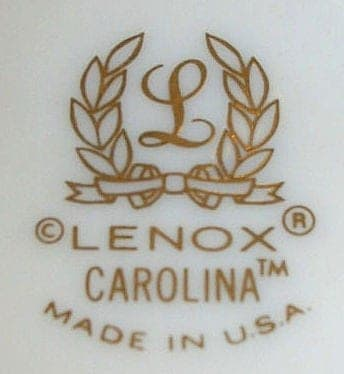 """Dinnerware Complete Service for 8, """"Carolina"""" (Blue Flowers)by Lenox, 5 Piece Place Settings (40 Pcs)"""