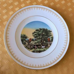 """Decorative Plate, """"Autumn in New England"""", Currier & Ives, Danbury Mint"""