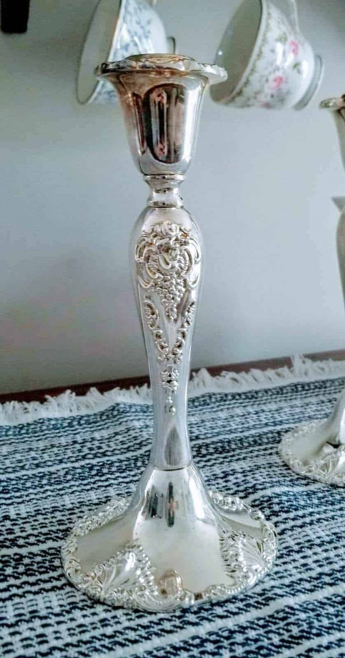 """Candle Holders, Silver plated Tapers, """"20th Century Baroque"""" by Godinger, SOLD"""