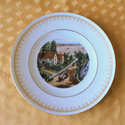 "Decorative Plate, ""The Western Farmer's Home"", Currier & Ives, Danbury Mint"
